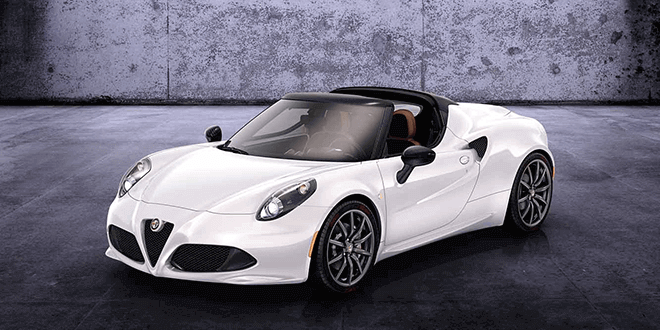 Alfa Romeo 4C Spider hire  Sixt Sports  Luxury Cars